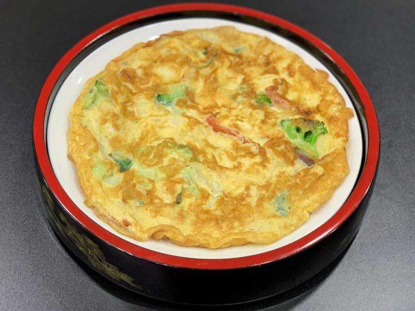 huevo batido con verduras