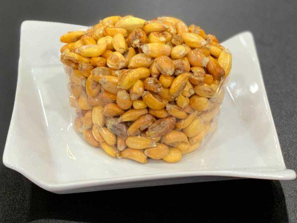 La cancha, cancha serrana o cancha paccho es una guarnición típica de la gastronomía andina. También se le conoce como maíz tostado en las gastronomías peruana.