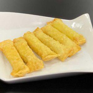 Masa wantán rellena de queso